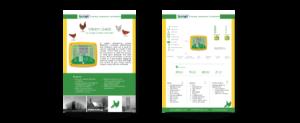 עיצוב ברושור, פרוספקט, עלון, דף מוצר של לקוח שעוצב לפי הקו העיצובי של הקטלוג ואתר החברה