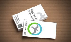 cycara business card on cart background