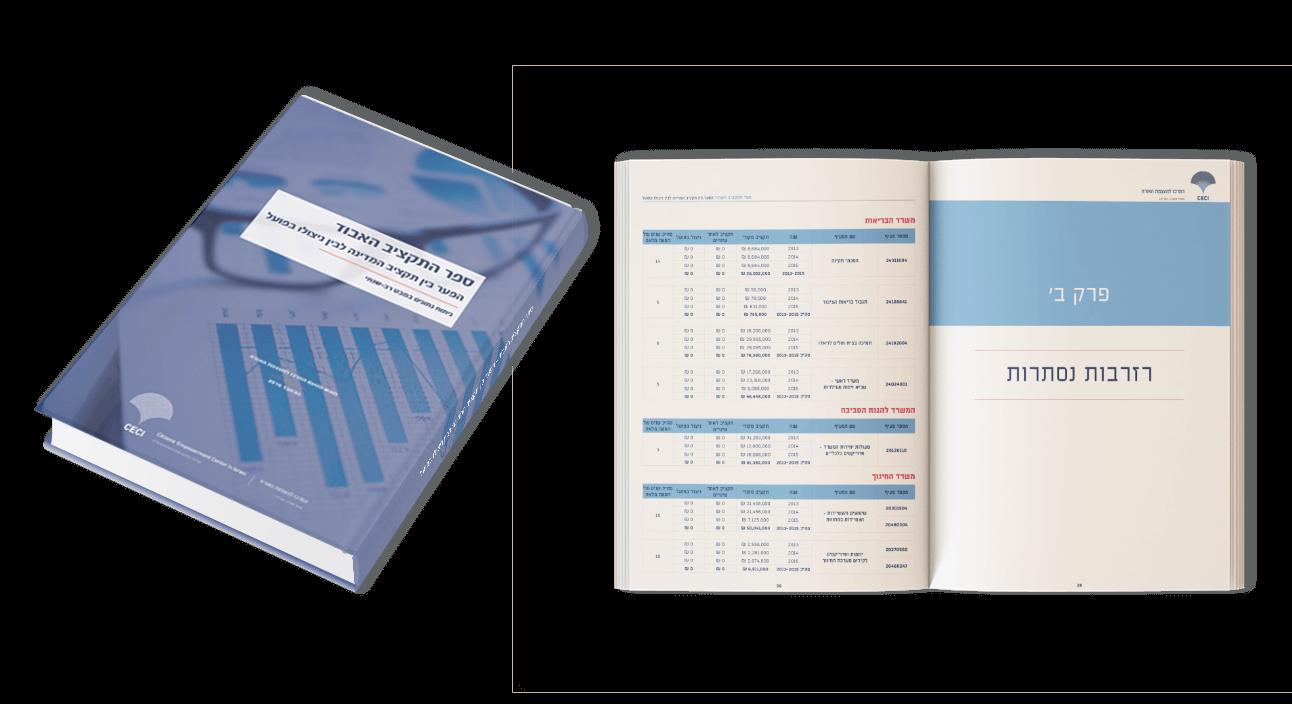 עיצוב חוברת מידע גדולה, עיצוב ספר תקציב, ספר התקציב החלופי