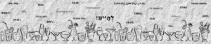 סליידר לראש עמוד של מסעדנות לברים פאבים ובתי קפה עם כוסות מצוירות על רקע של נייר מקומט וברכות לחיים בכל מיני שפות