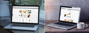 הדמיה של אתר מעוצב עם תמונות לחיצות