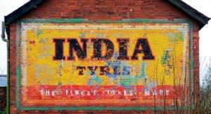 פרסומת על קיר בהודו