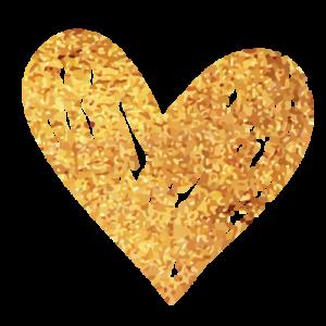 לב זהב מאויר בקשקוש